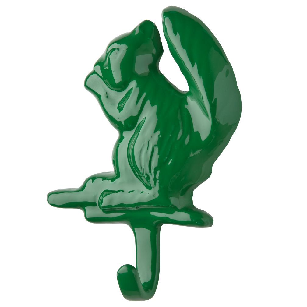 Nature Trail Wall Hook (Green Squirrel)