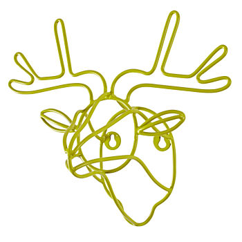 Wired Life Wall Hook (Deer)