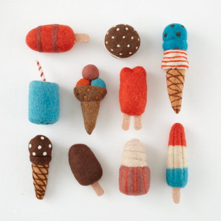 Felt Ice Cream Toys - Set of 10 Freezy Dream Treats