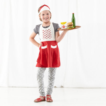 Kids Diner Server Costume (Girl) - 23-Hour Diner Server Flo Costume