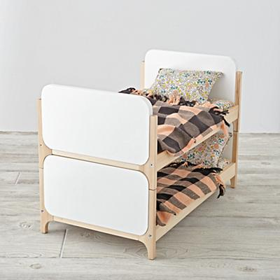Mod Doll Bed with Cozy Industrial Bedding (Set of 2)