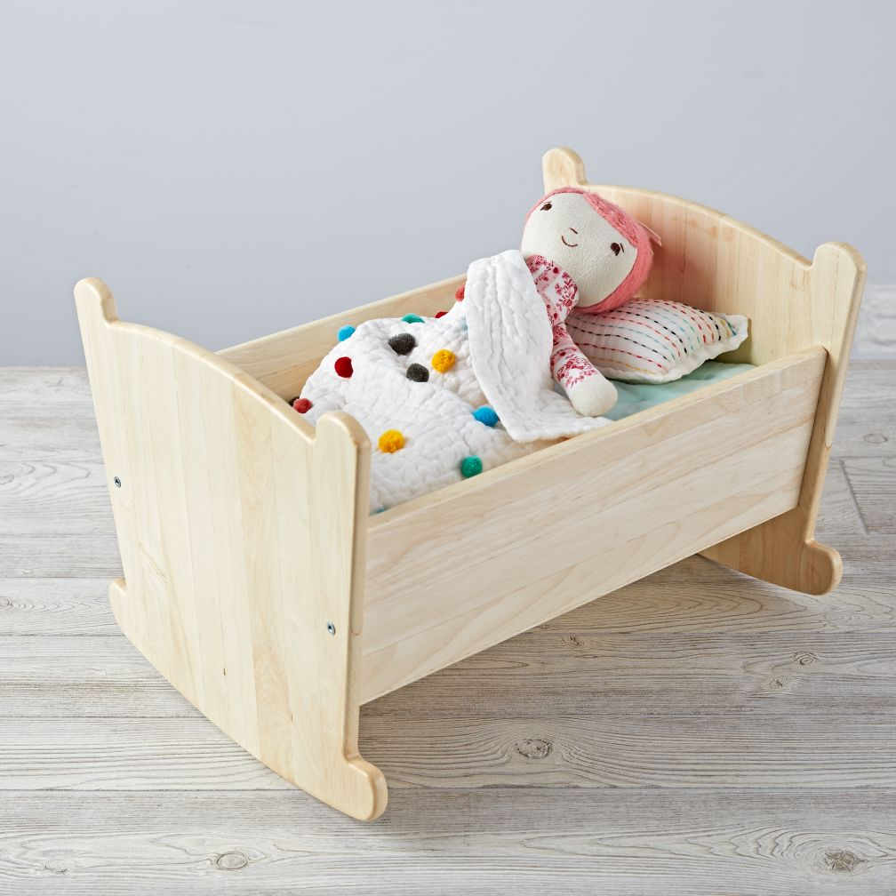 Nod Doll Cradle w/ Sparkle Bright Bedding