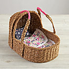 Doll Moses Basket with Bedding