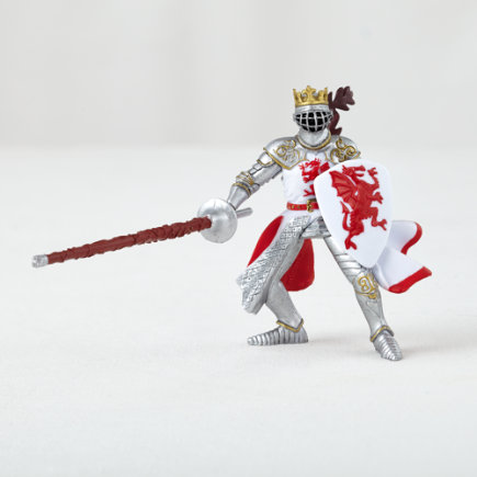 Red Dragon Knight Figurine