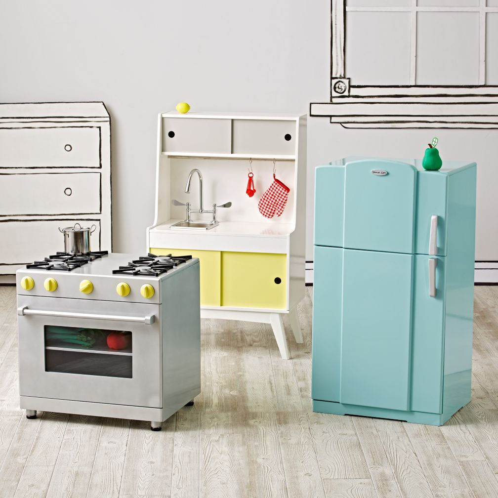 Kids play kitchen food the land of nod for Fake kitchen set
