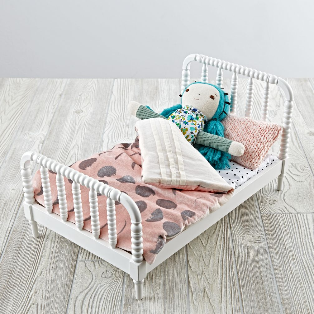 Jenny Lind Doll Bed w/ Glam Noel Bedding