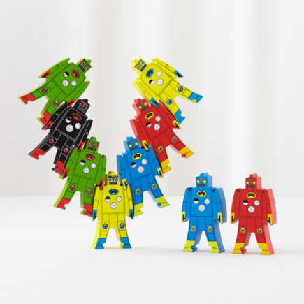 Robot Stacker Wooden Toy - Robot Stacker