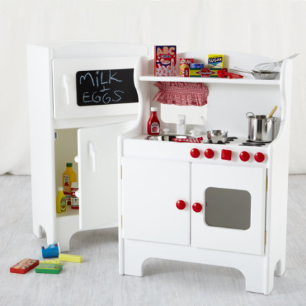 Kids Imaginary Play: Kids Kitchen Appliances Set - White Kitchenette