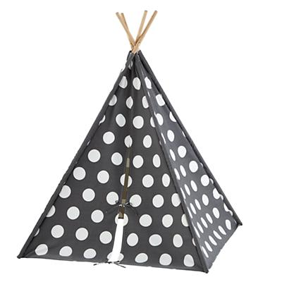 A Teepee to Call Your Own (Grey w/ White Dot)