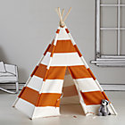 Orange Stripe Canvas Teepee