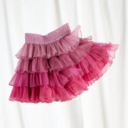 Girls Tutu: Kids Pink Ombre Tutu Skirt - Pink Blended Tutu