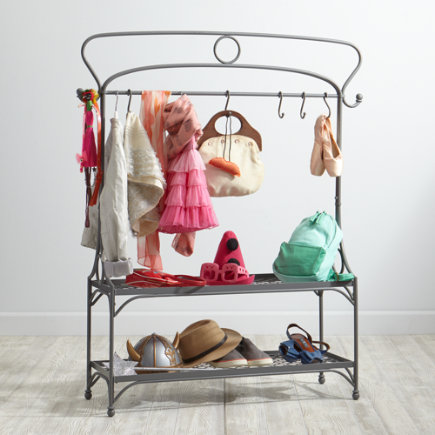 Kids Dress Up Wardrobe Rack - Dress Up for Success Play Wardrobe Rack