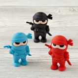 Ninja Erasers (Set of 3)