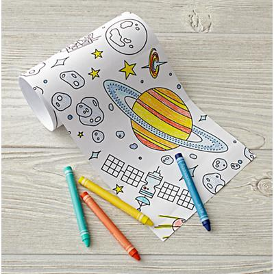 Outer Space Mini Coloring Roll