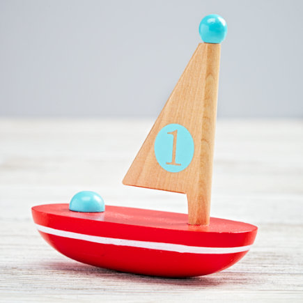 Red Nautical Boat