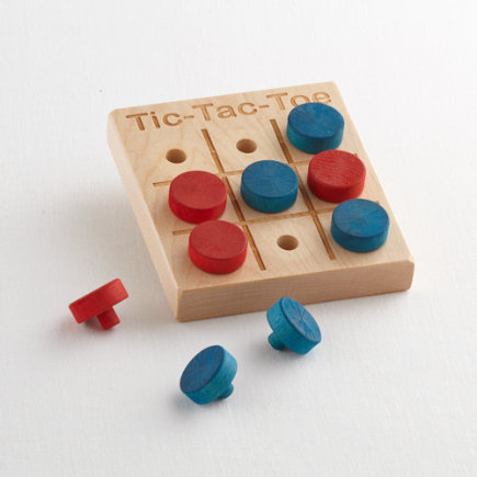 Wooden Tic-Tac-Toe Kids Toy - Maple Tic Tac Toe