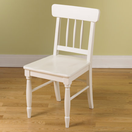 Kids Desk Chairs: Kids Wooden Classic Jenny Lind Desk Chair - White Jenny Lind Desk Chair Floor to Seat: 17