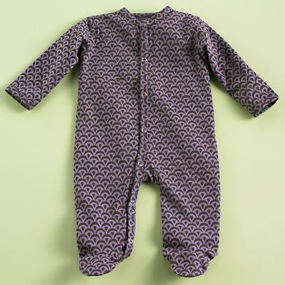 0-3 mos. Purple Footie