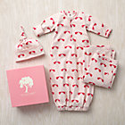 3-6 mos. Pink Elephants Snuggle Sack, Hat and Blanket Set