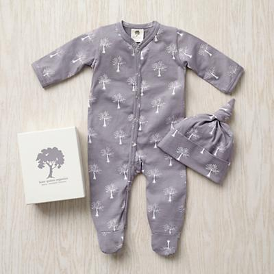 0-3 mos. Kate Quinn Hat Set (Grey Trees)