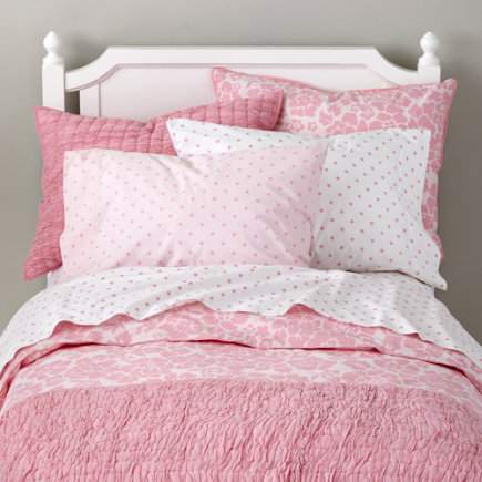 - Twin Pink Dream Girl Floral Duvet Cover