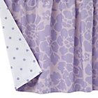 Lavender Floral Dot Reversible Crib Skirt