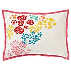 Set Floral Gem Throw Pillow