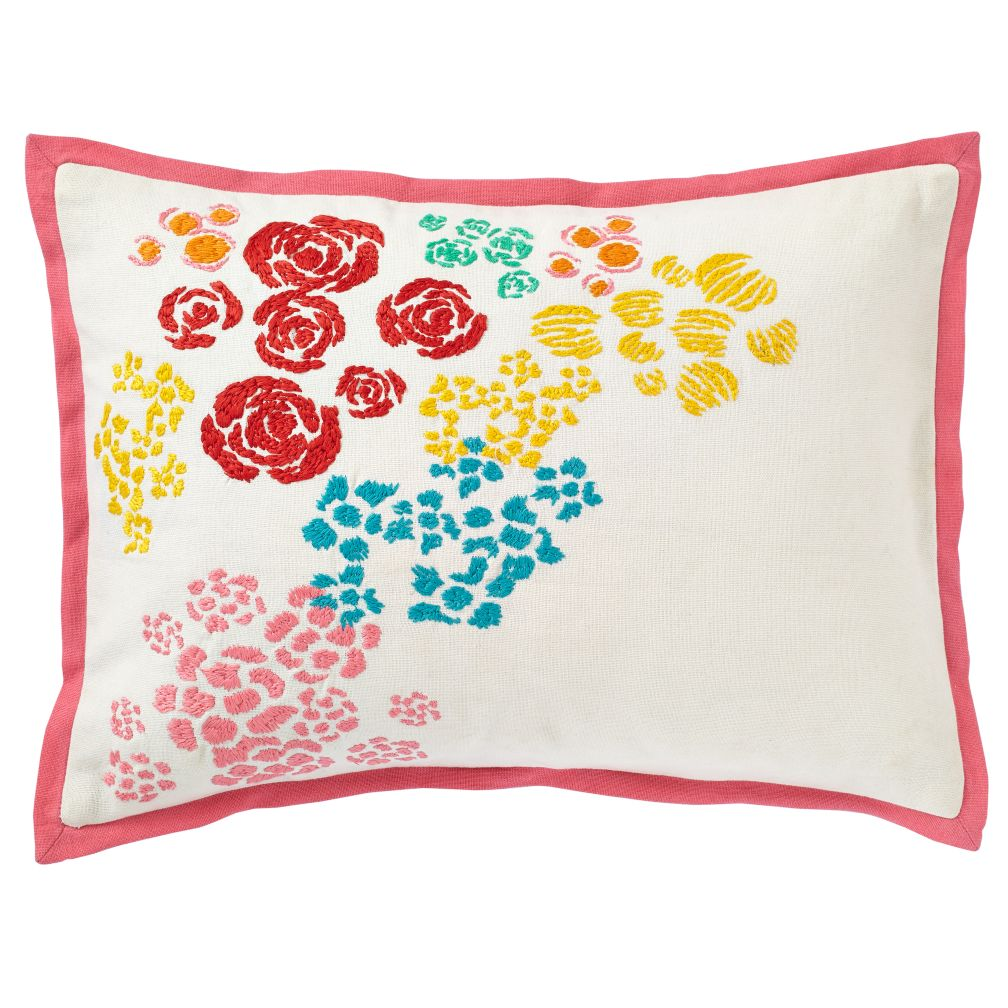 Floral Gem Throw Pillow Cover