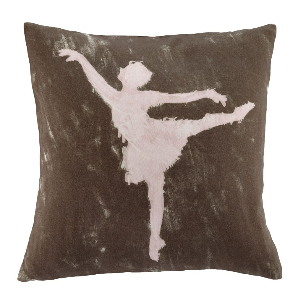 Ballet Dancer Throw Pillow Cover