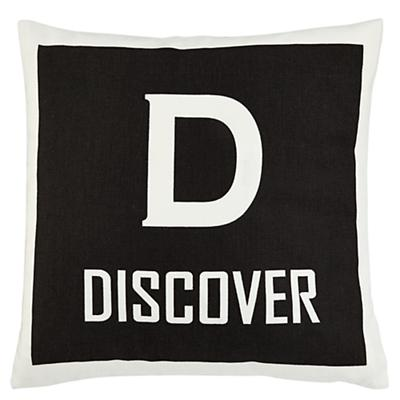 Discover Throw Pillow Cover