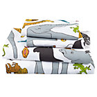 Full Welcome Jungle Sheet SetIncludes fitted sheet, flat sheet and two pillowcases