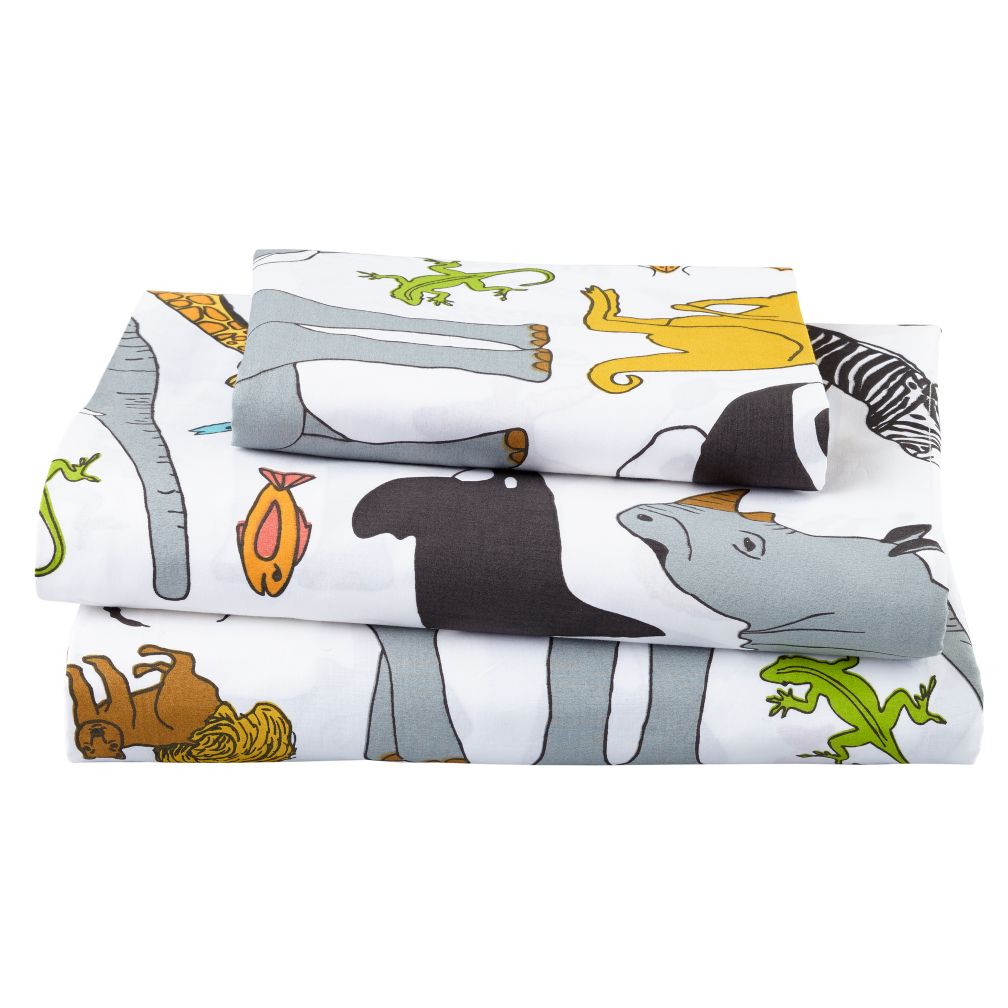 Welcome to the Jungle Organic Twin Sheet Set
