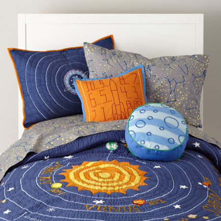 solar system and space bedding kids room decor