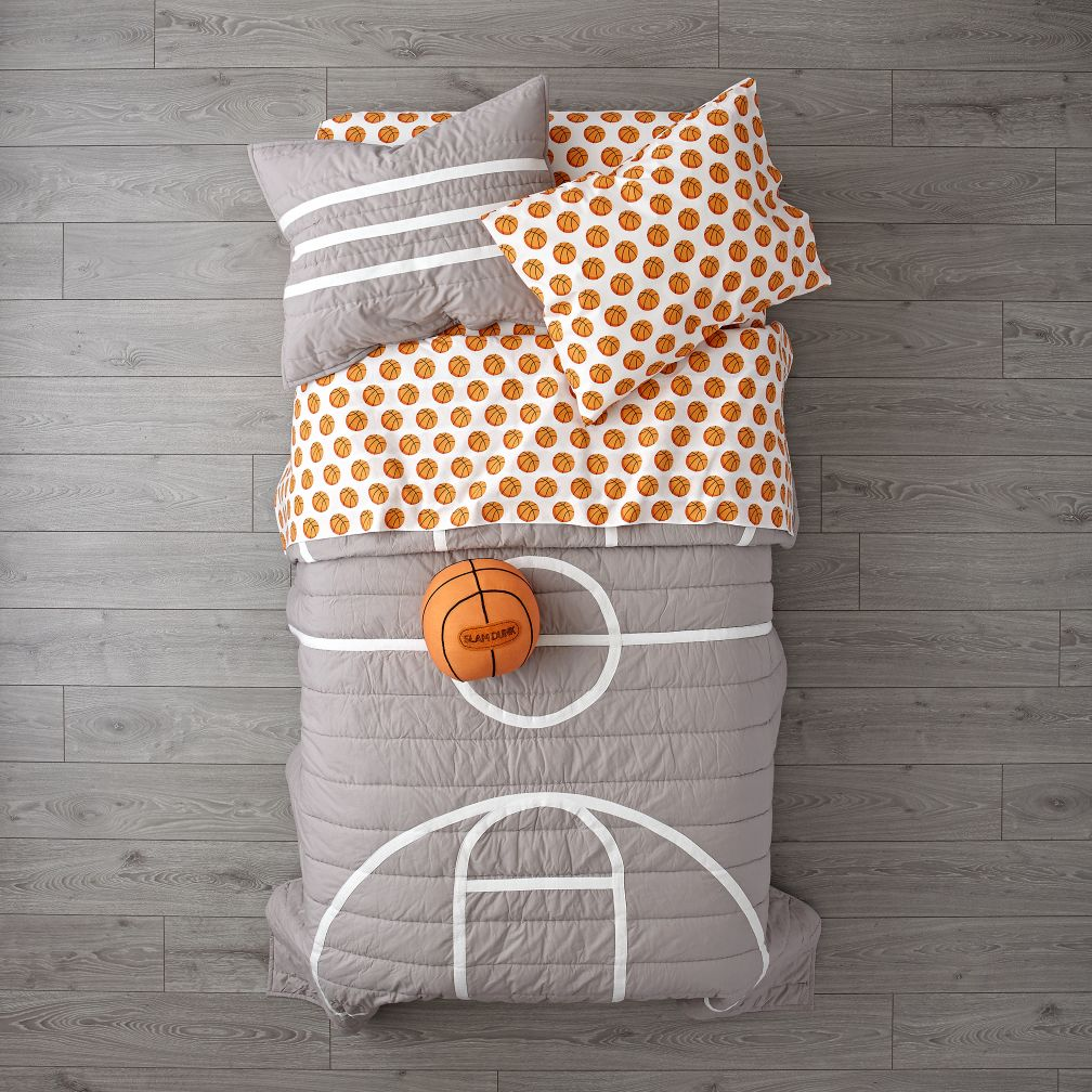 This is the To The Center Of Bedding bed set available from The Land Of Nod. The quilt top costs $ for a twin, $ for a full/queen, and the pillows and sheets are extra. The quilt top costs $ for a twin, $ for a full/queen, and the pillows and sheets are extra.