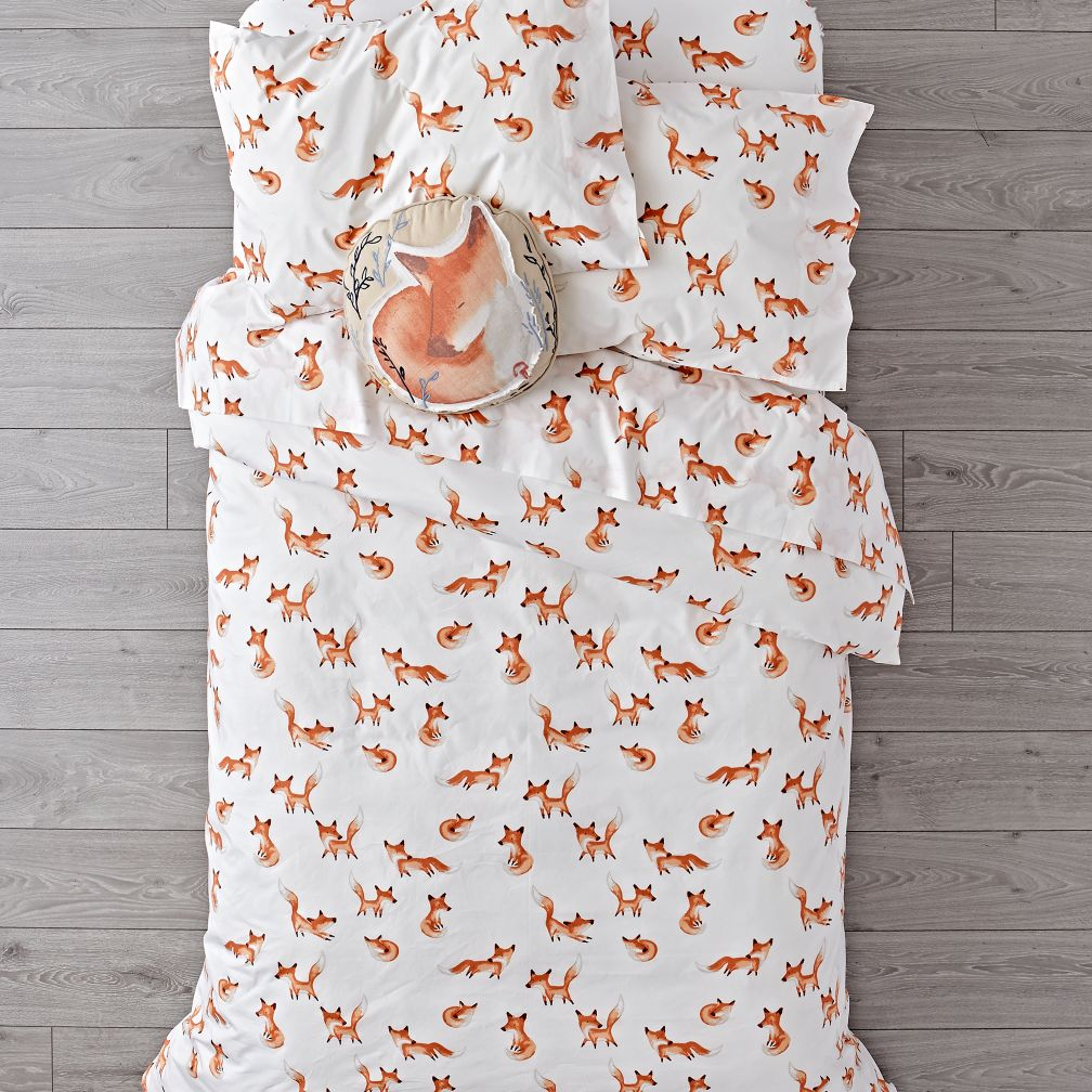 Organic Fox Duvet Cover