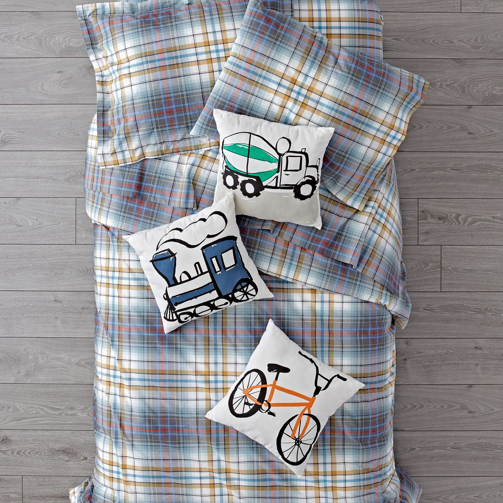 Plaid University Duvet Cover
