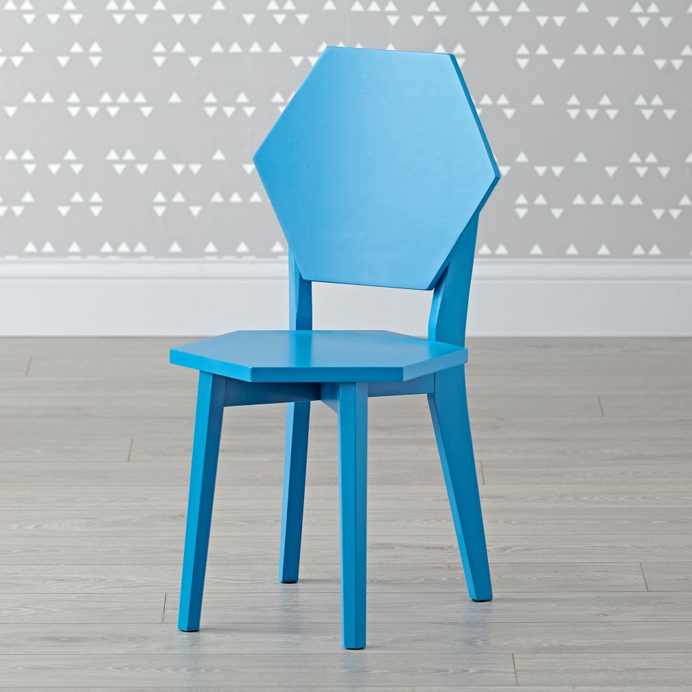 Polygon Blue Kids Chair