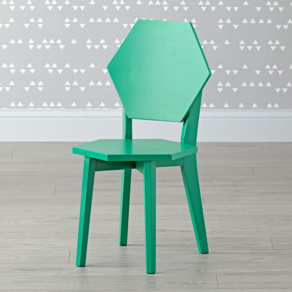 Polygon Green Kids Chairs