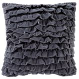 Grey Velvet Throw Pillow