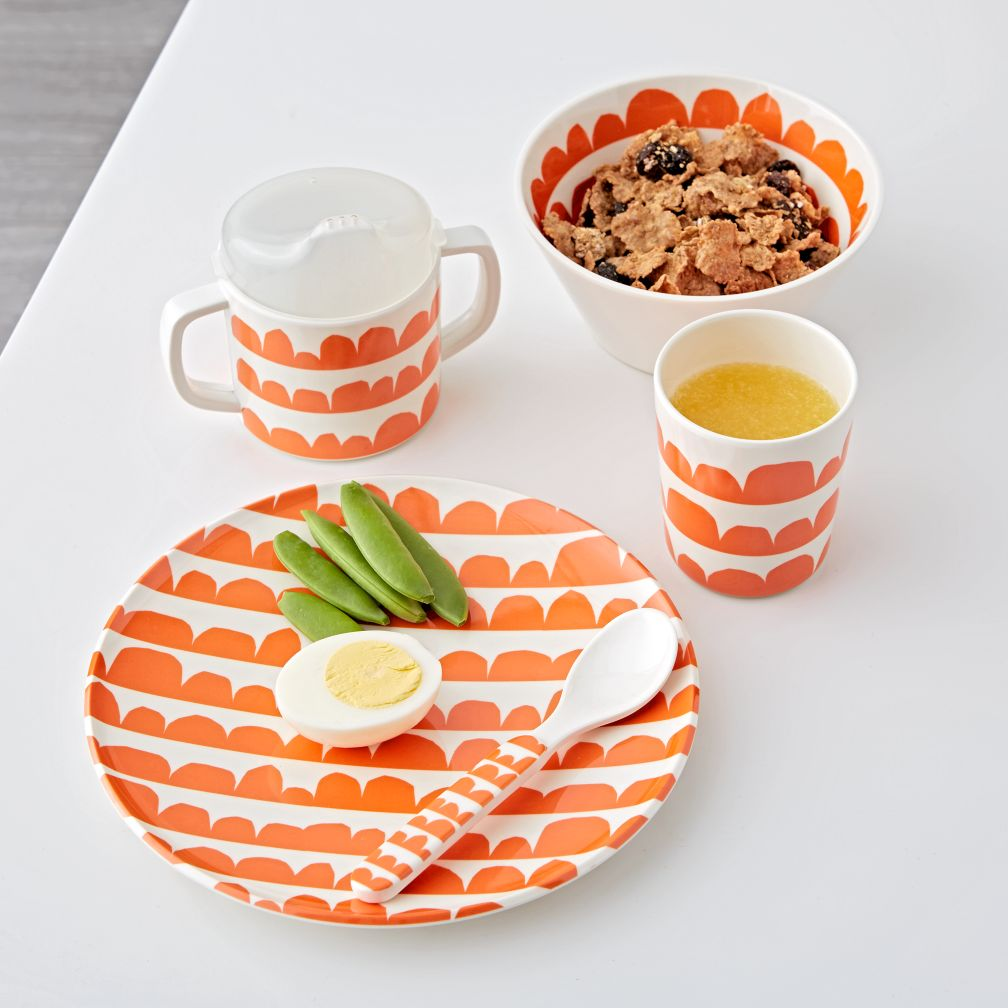 Scallop Melamine Mealtime Set