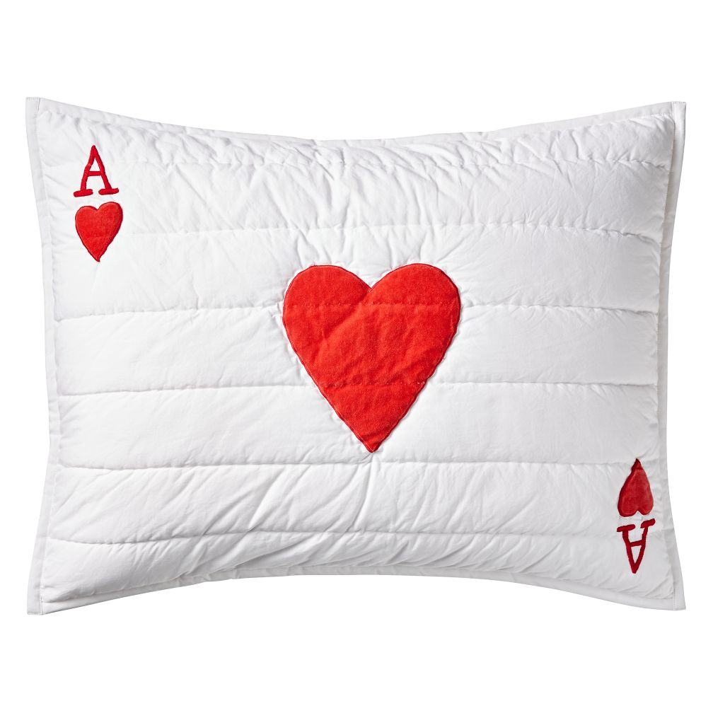 Wonderland Ace of Hearts Sham
