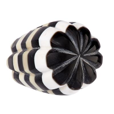 Hand Picked Knobs (Black and White Stripe)