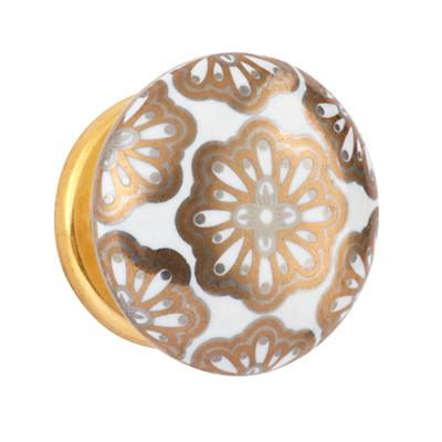 Hand Picked Knobs (Gold Floral)