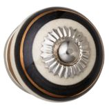 Handpicked Knobs (Cream and Black Stripe)