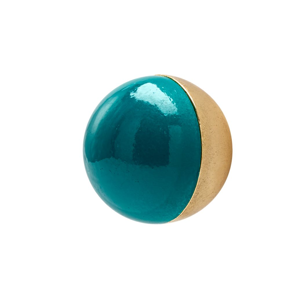 Hand Picked Globe Knob (Teal)