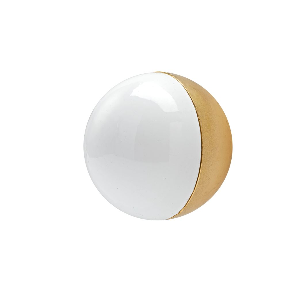 Hand Picked Globe Knob (White)