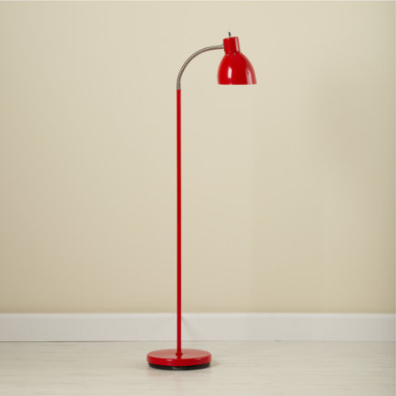 Adjustable Bright Idea Floor Lamp (Red) - Red Bright Idea Floor Lamp