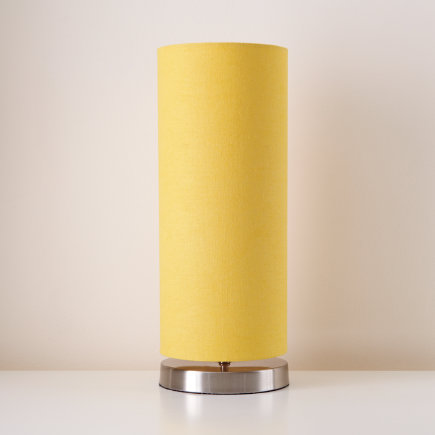 Kids Lighting: Kids Nickel Base Yellow Pop Up Table Lamp   Yellow Pop Up  Table Shade