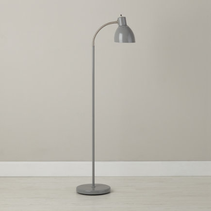 Adjustable Bright Idea Floor Lamp (Grey) - Grey Bright Idea Floor Lamp