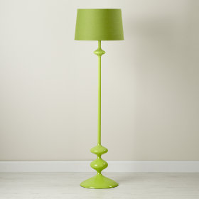 Kids' Lighting: Kids' Nickel Floor Lamp and Blue Two-Tone Shade in ...